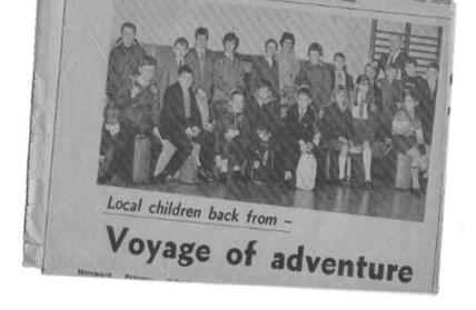 1967 - School voyage to Norway!