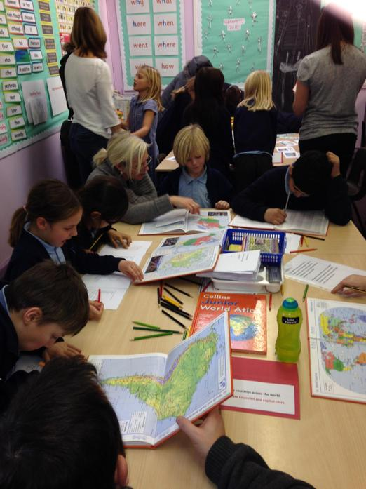 Using Atlases to find continents and countries