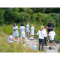 Pond dipping in the environmental area