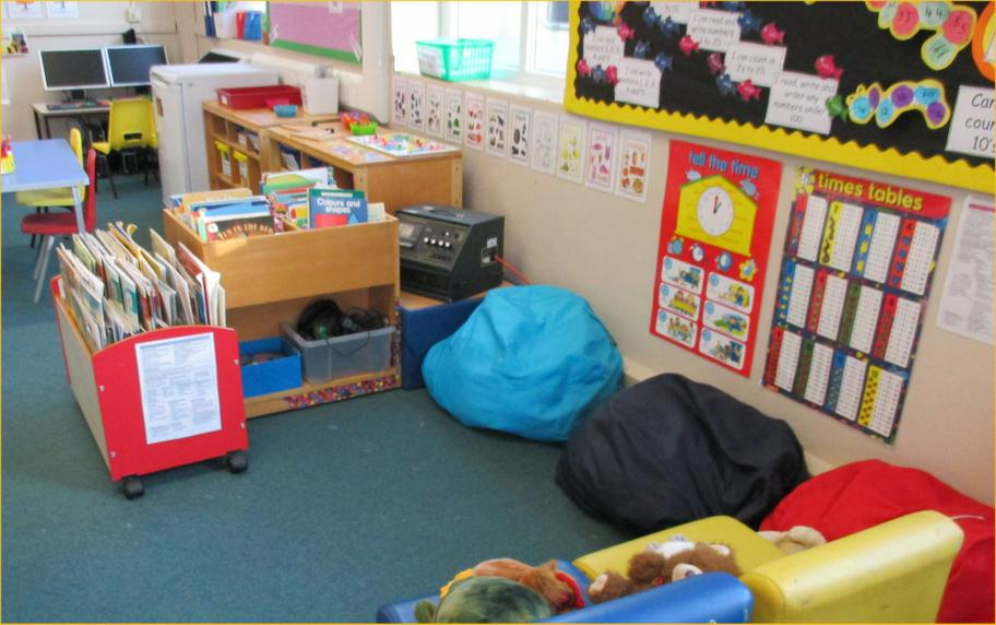 Here is our quiet reading area.