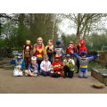 Super heroes learning and playing together!