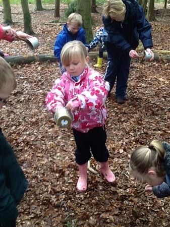 Spreading our potion around the woods!