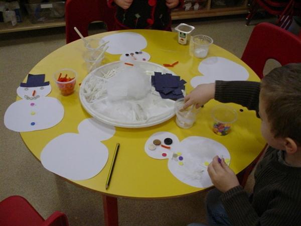 We enjoyed sticking on our snowmen