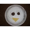 Reception made penguin masks.