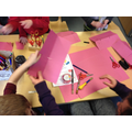 Making Chinese New Year lanterns