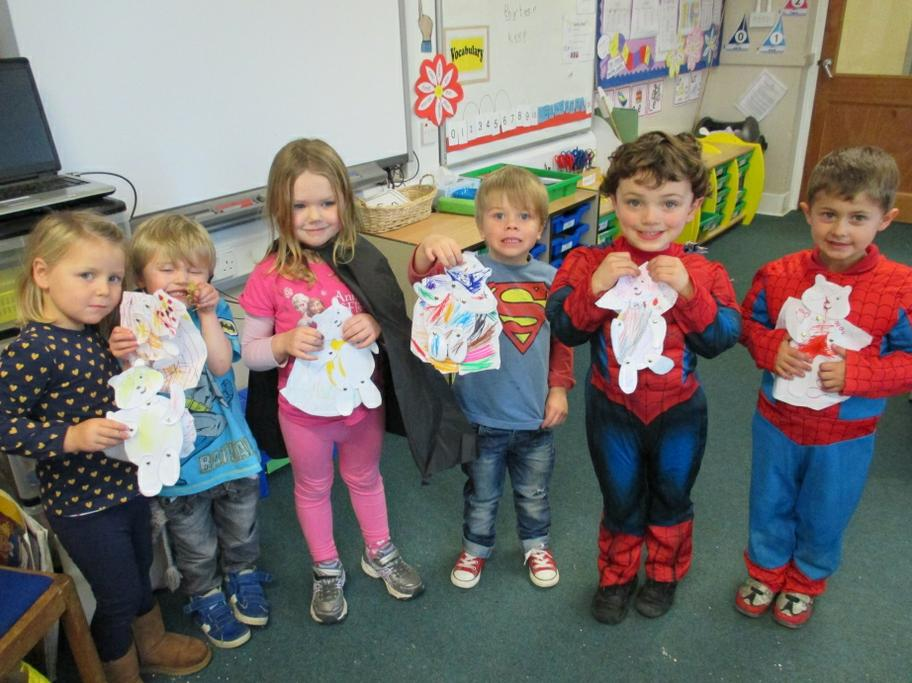 Our super hero Pudsey Bears