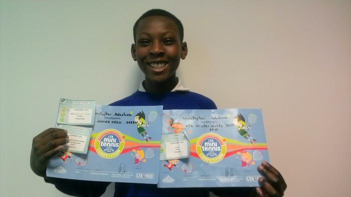 Christopher - LTA Tennis success: 3rd place!