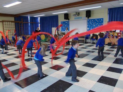See how much fun we had Ribbon dancing