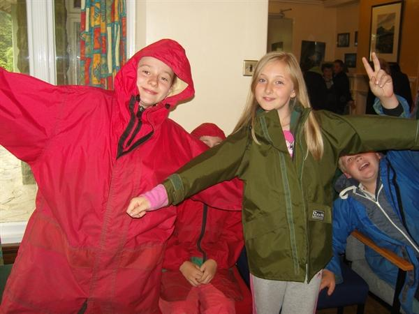 Being dressed for the Welsh weather was essential!