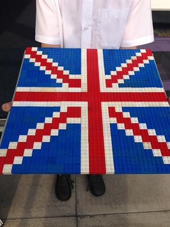 Union Jack made From Lego