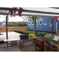 Outside the reception classrooms
