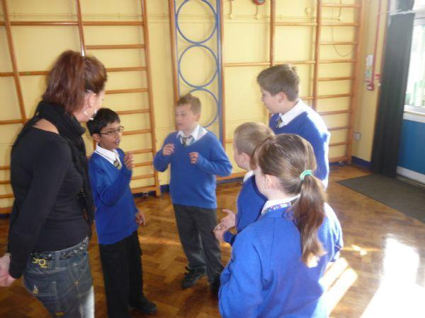 Joining in a Year 6 storytelling/drama lesson