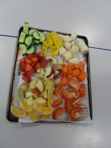 tasting healthy food