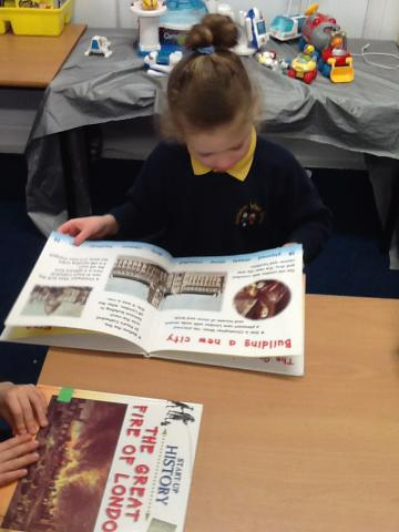 Reading non-fiction books to find out more
