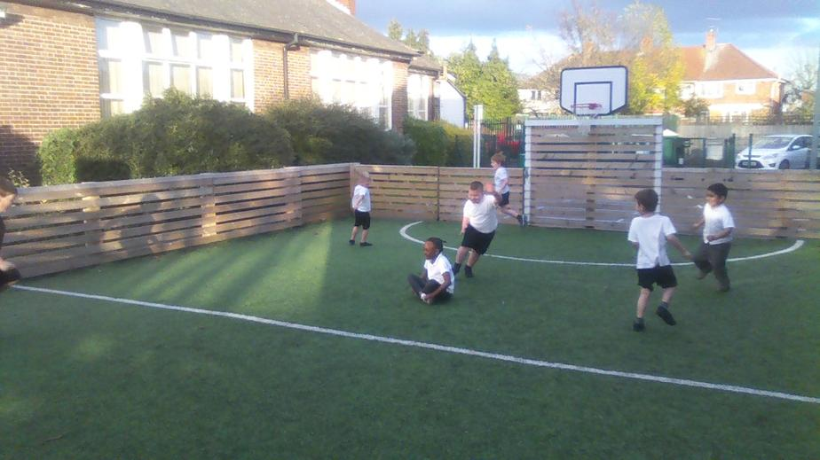 We developed our ball skills!