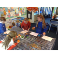 We enjoyed making the tea-stained paper!