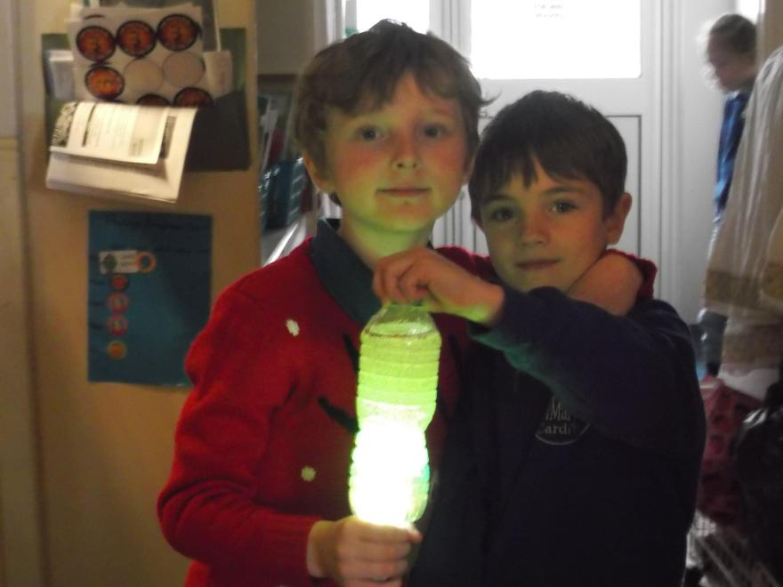 We worked together to make our lava lamp.