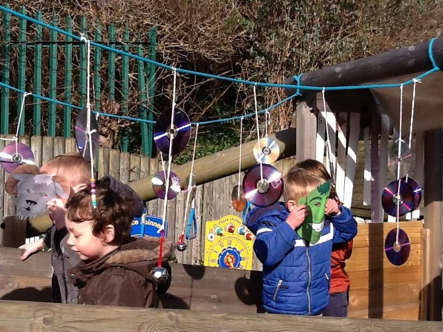 The 3 Billy Goats Gruff outdoor story telling