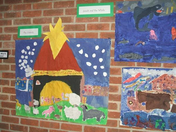 Year 3 Bible Story Collages and Paintings