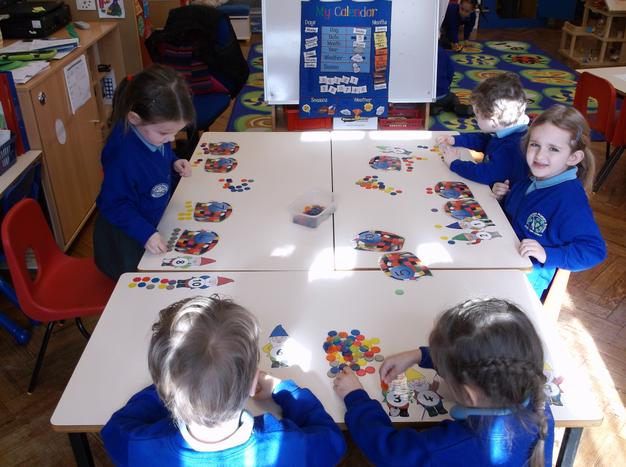 Counting out counters to match a number