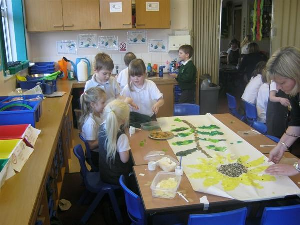 Creating a Sunflower!