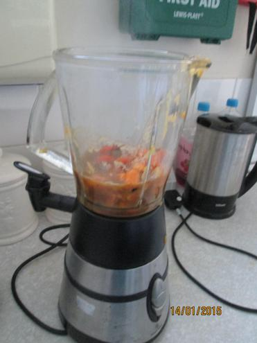 We added it to a blender and WHIZZ we had soup!