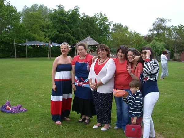 Jubilee picnic - some of the PTA organisers