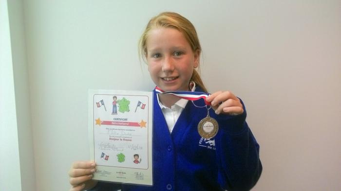 Millie - French club award - Felicitations!