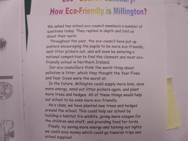 How we help the environment - Eco Council