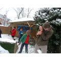 Year 6 playing in the snow.q