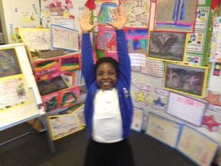 Rachel loved presenting her hard work!