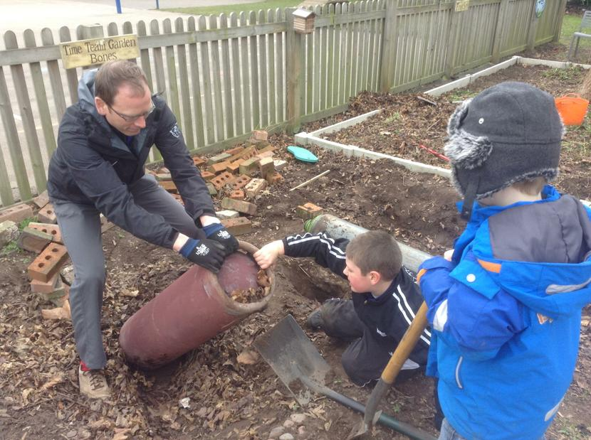 Excavating the bombs from our WWII site