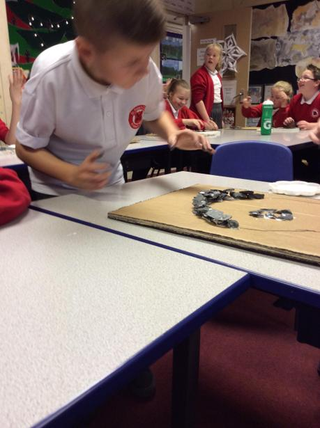 We used slate chippings to build