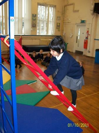 Getting to grips with the climbing frame