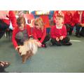 We met Fudge the skunk