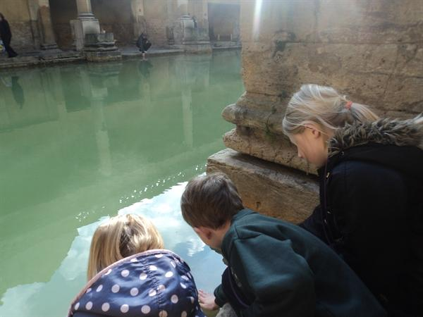 The spring water was steaming!