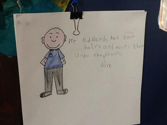Writing about Mr Edwards!