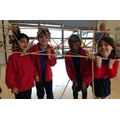 Year 2 Bridge Building day in the hall