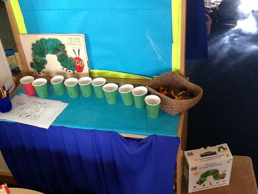 The Very Hungry Caterpillar counting activity