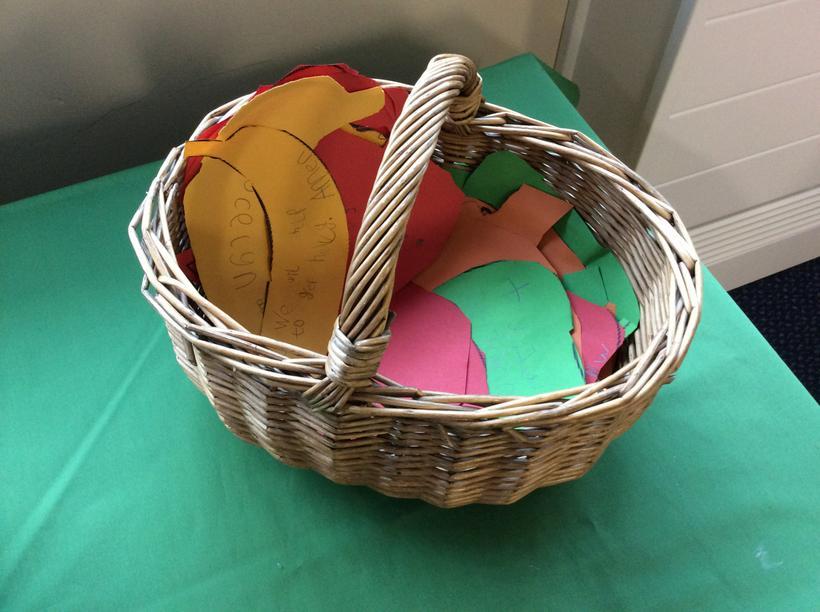 Our harvest prayer basket.