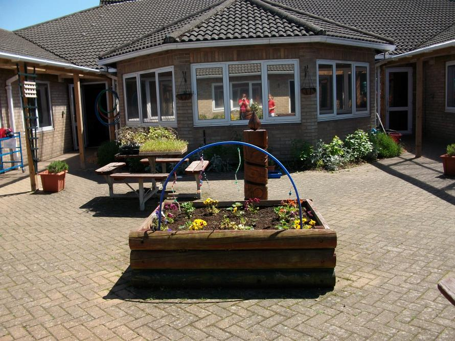 Key Stage 2 courtyard