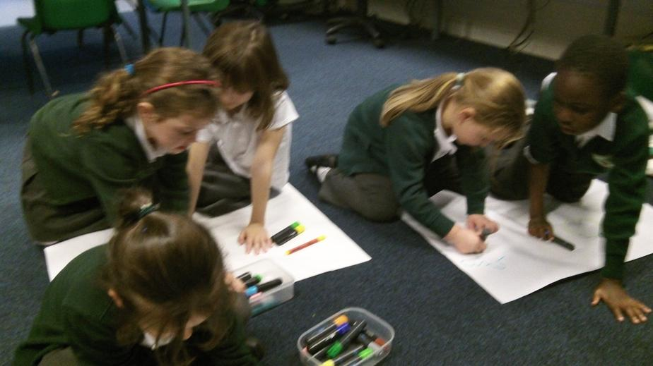 Children created their own story maps.