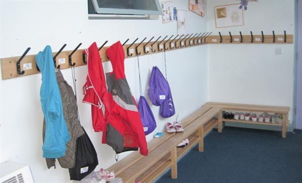 Tidy cloakrooms - will they stay this neat