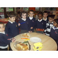 Cucumber and cheese sandwiches - healthy eating
