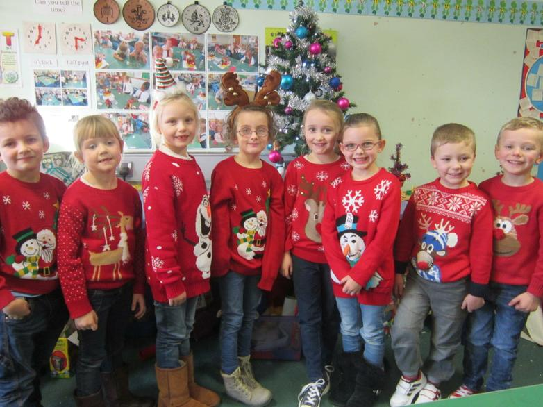 Christmas Jumper Day in aid of Macmillan Charity.
