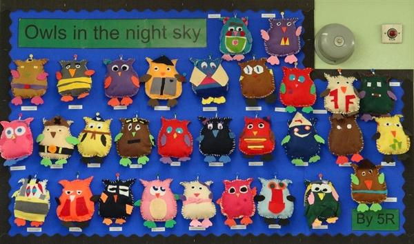 Owls in the Night Sky