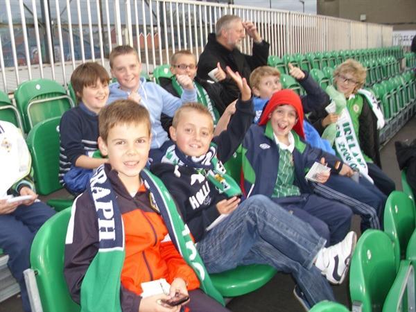 Some of Y7G Enjoying NI v Portugal