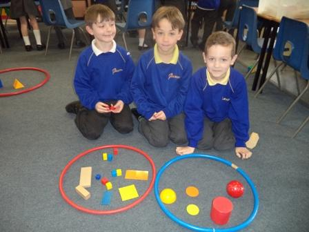 We sorted 2D and 3D shapes using our own criteria
