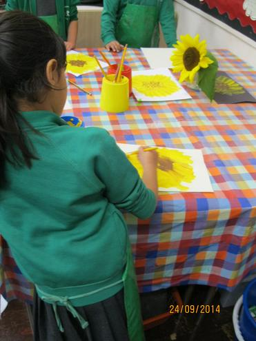 We have created some wonderful sunflower paintings