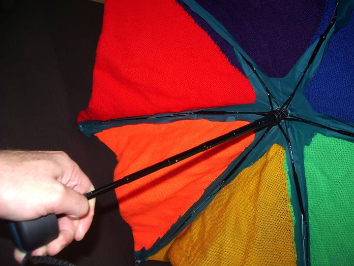 A woolen umbrella!